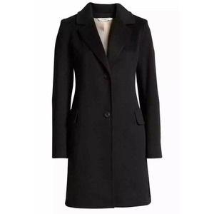 Fleurette Notched Italian Wool Walker Coat